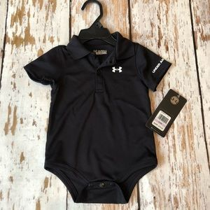 NWT Under Armour blk onesie size 9/12 months